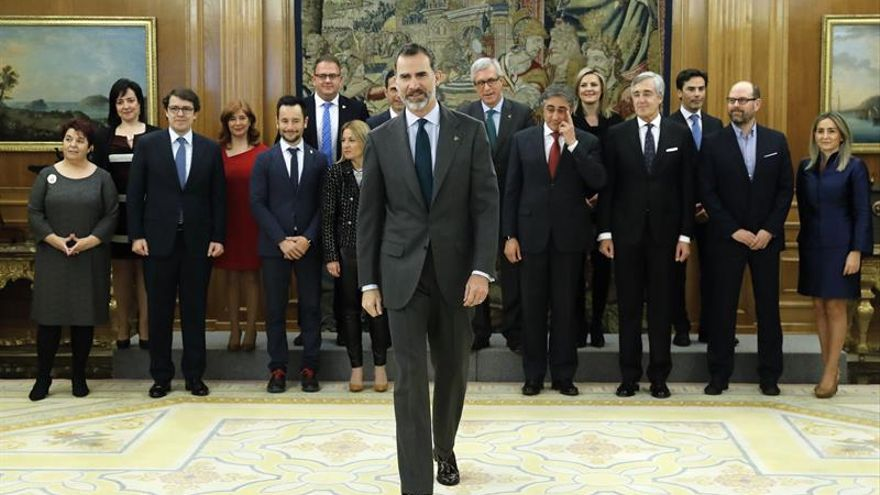 El Rey recibe a los alcaldes del Grupo de Ciudades Patrimonio de la Humanidad