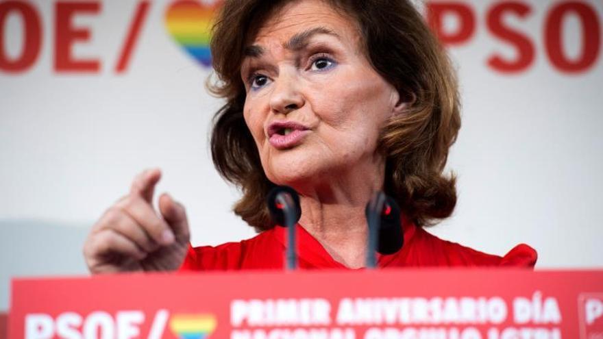 """Calvo reivindica el Orgullo y asegura que Cs y PP """"no aguantan tirón de Vox"""""""