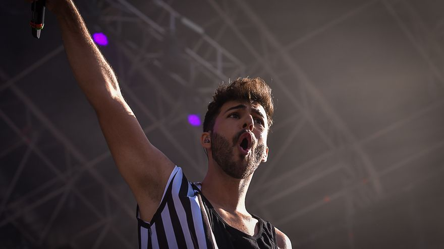 Agoney en el Love Festival.