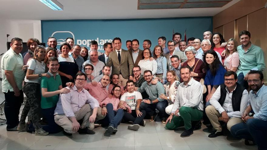 Francisco Núñez celebra haber ganado las primarias del PP Castilla-La Mancha
