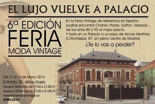 6ª Feria de Moda Vintage en el Palacio de Santa Bárbara