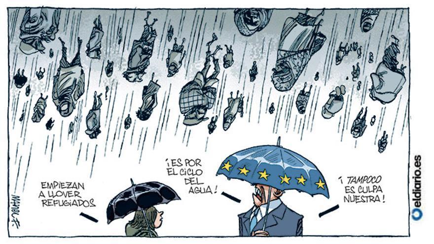 Llueven refugiados