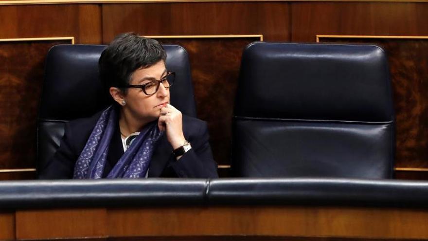 La ministra de Exteriores, Arancha González Laya, en el Congreso de los diputados en Madrid.