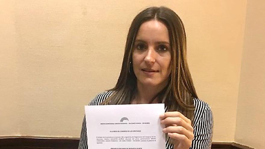 La diputada valenciana de Podemos Àngela Ballester
