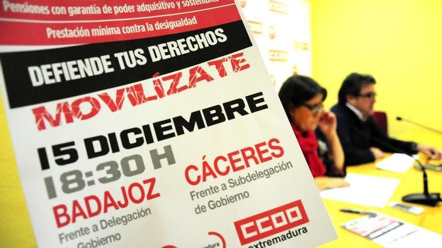 CCOO UGT Extremadura Julian Carretero Patrocinio Sanchez