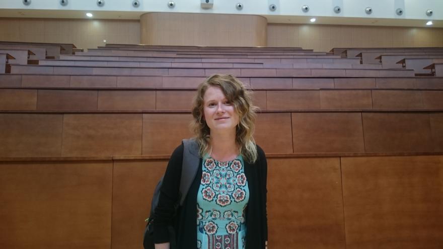 Gabriela Pinheira, estudiante de tesis e investigadora precaria.