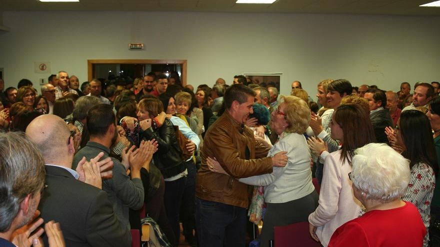 Cabañero durante el acto de presentación de su pre candidatura en la Casa del Pueblo de Albacete.