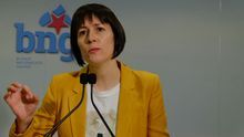 La portavoz del BNG, Ana Pontón, durante una comparencia.