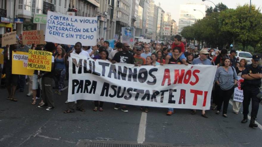 Manifestación en A Coruña contra la represión a los movimientos sociales 15M MONTE ALTO