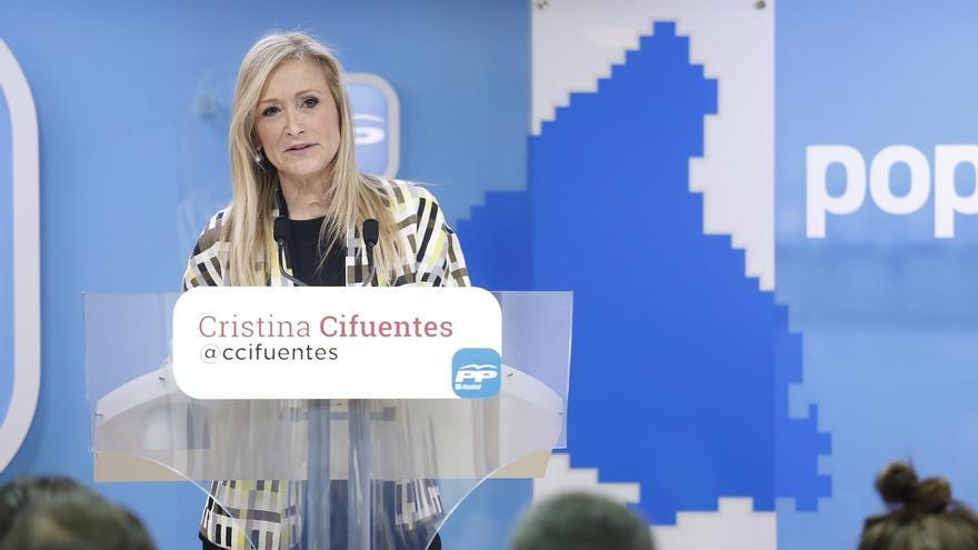 """Cifuentes presenta un programa con 300 medidas """"de futuro"""" y """"centrado en las personas"""""""