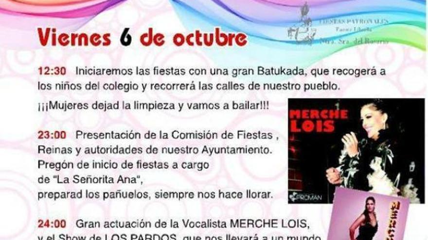 Cartel fiestas patronales Fuente Librilla