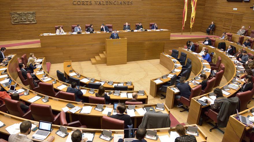 El pleno de las Corts Valencianes del 9 de marzo.