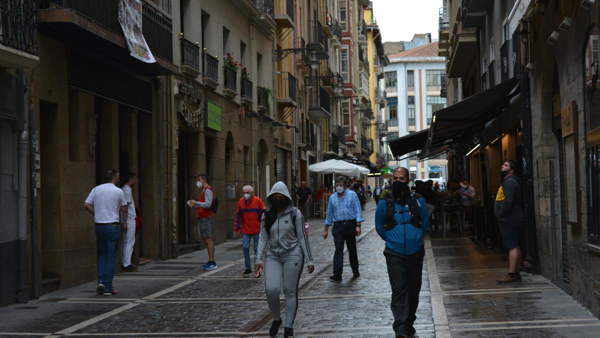 Imagen de la calle Estafeta de Pamplona.