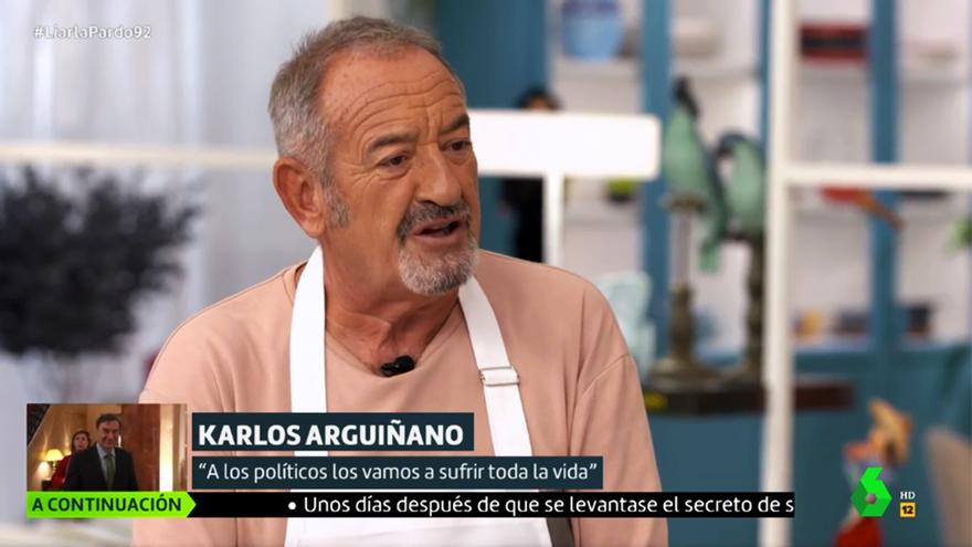 Karlos Arguiñano, durante su entrevista en Liarla Pardo