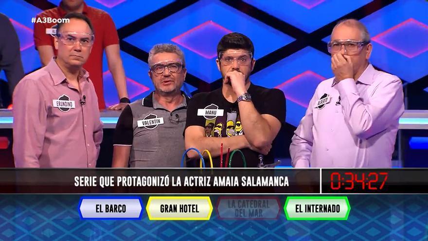 """Los lobos de '¡Boom!', """"suspendidísimos en Antena 3""""tras fallar una pregunta sobre sus series"""