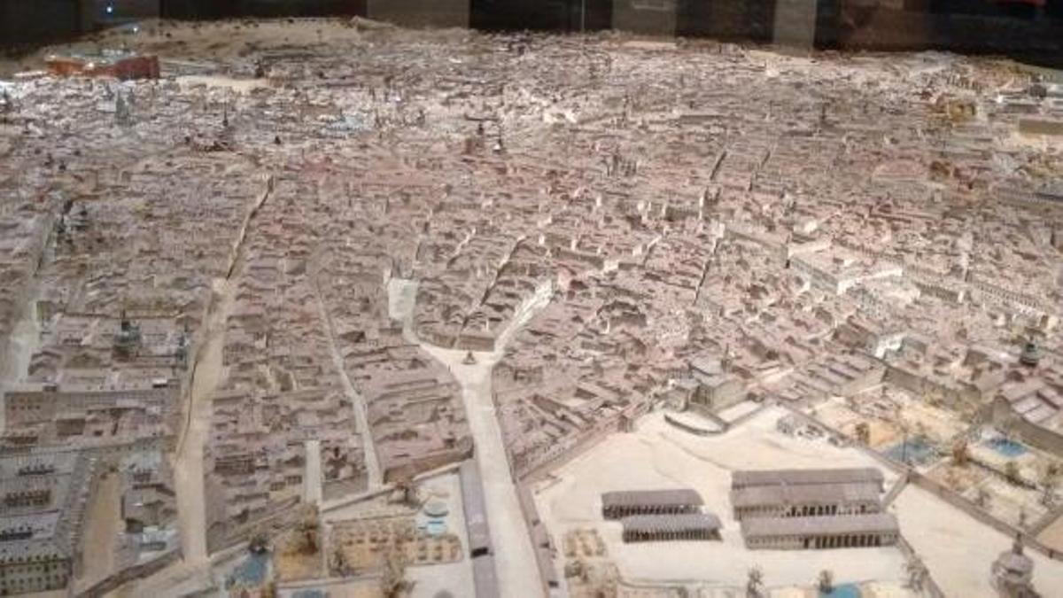 Maqueta histórica de la ciudad de Madrid