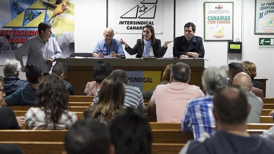 Reunión de los trabajadores de Iberia / Foto cedida