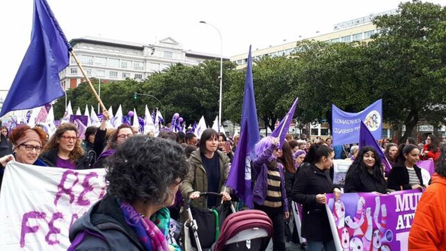 El feminismo vuelve a llenar las calles de reivindicación en torno a los cuidados