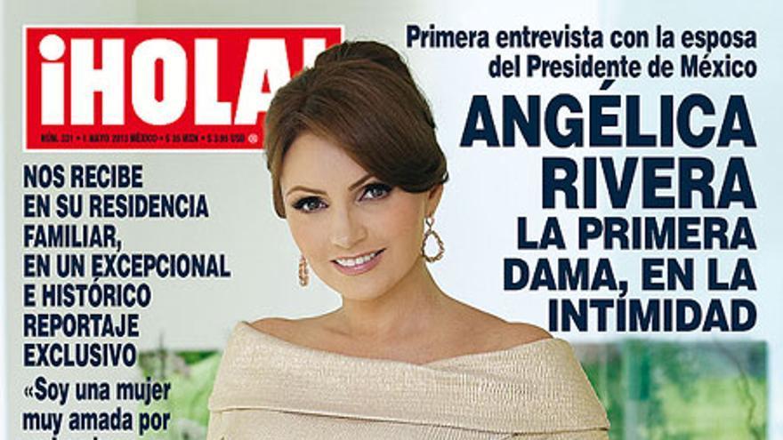 Portada de ¡Hola! que supuso un escándalo en la política mexicana.