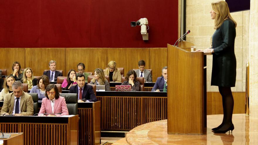 Susana Díaz en el Debate del Estado de la Comunidad.