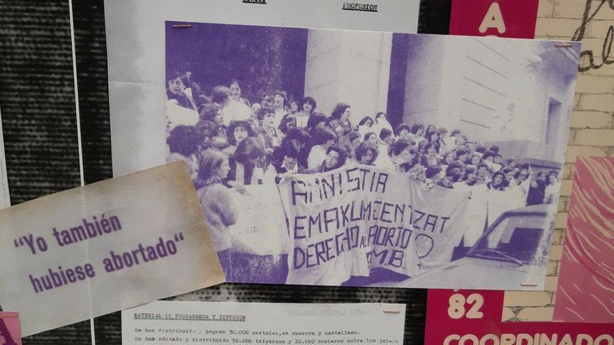 Fotografía de una manifestación a favor del aborto en Euskadi