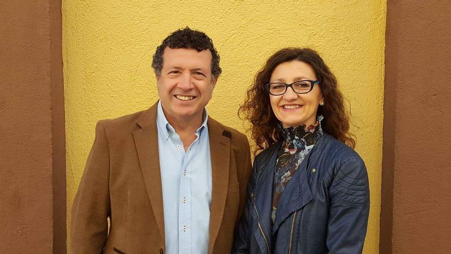 Fulgencio M. Lax, presidente de DREM, y Esperanza Clares, presidenta de MurciaaEscena