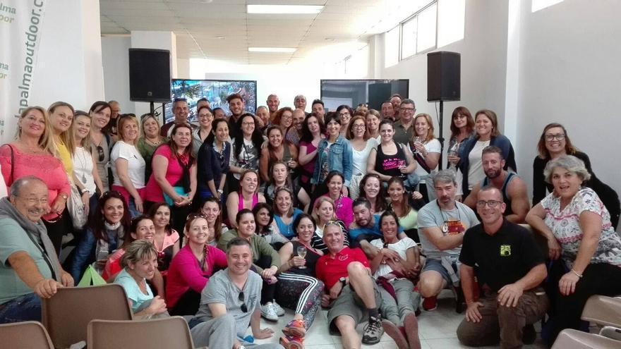 Grupo de agentes de viaje que visita La Palma.