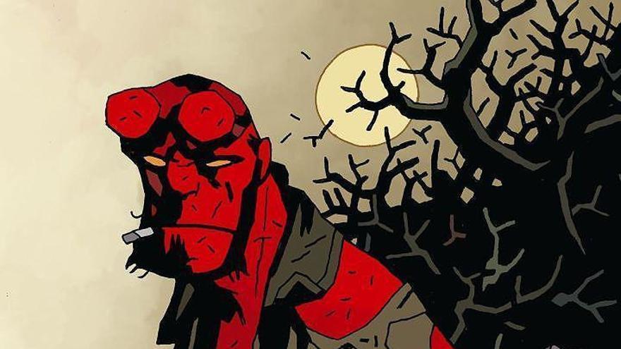 Póster promocional de 'Hellboy'