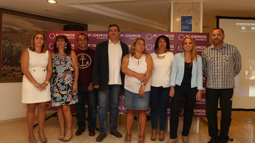 Acto de 100 días de Podemos en las instituciones de Canarias