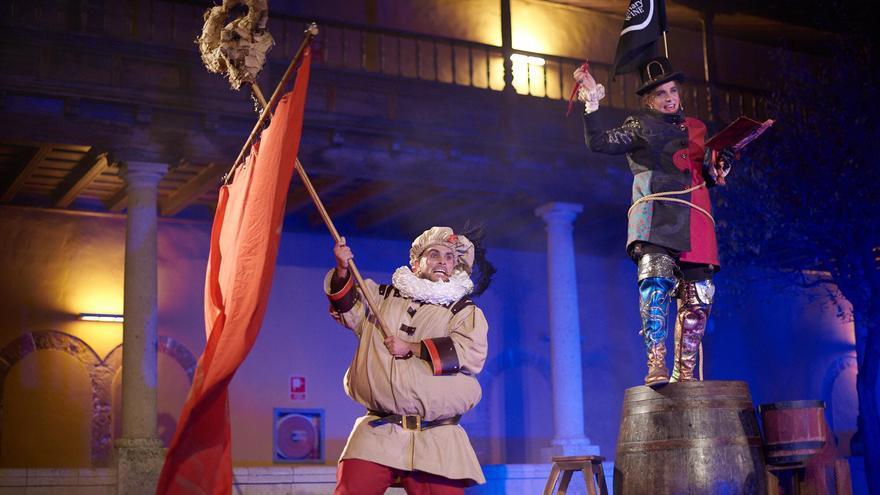 Parte de la obra teatral que se llevará a escena en Bodega Viña Zanata