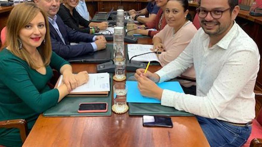 Grupo de CC en el Cabildo.