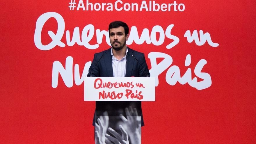 """Garzón afirma que """"Ciudadanos es el sostén del bipartidismo"""" que representan PP y PSOE"""
