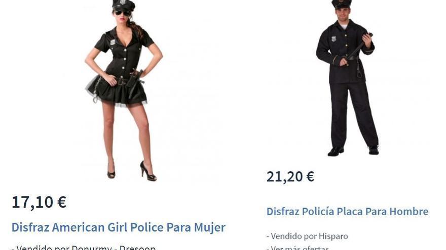 Disfraz de policía para mujer y hombre.