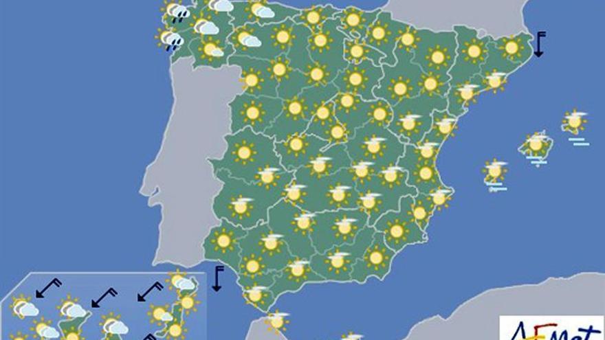Hoy, aumento de las temperaturas