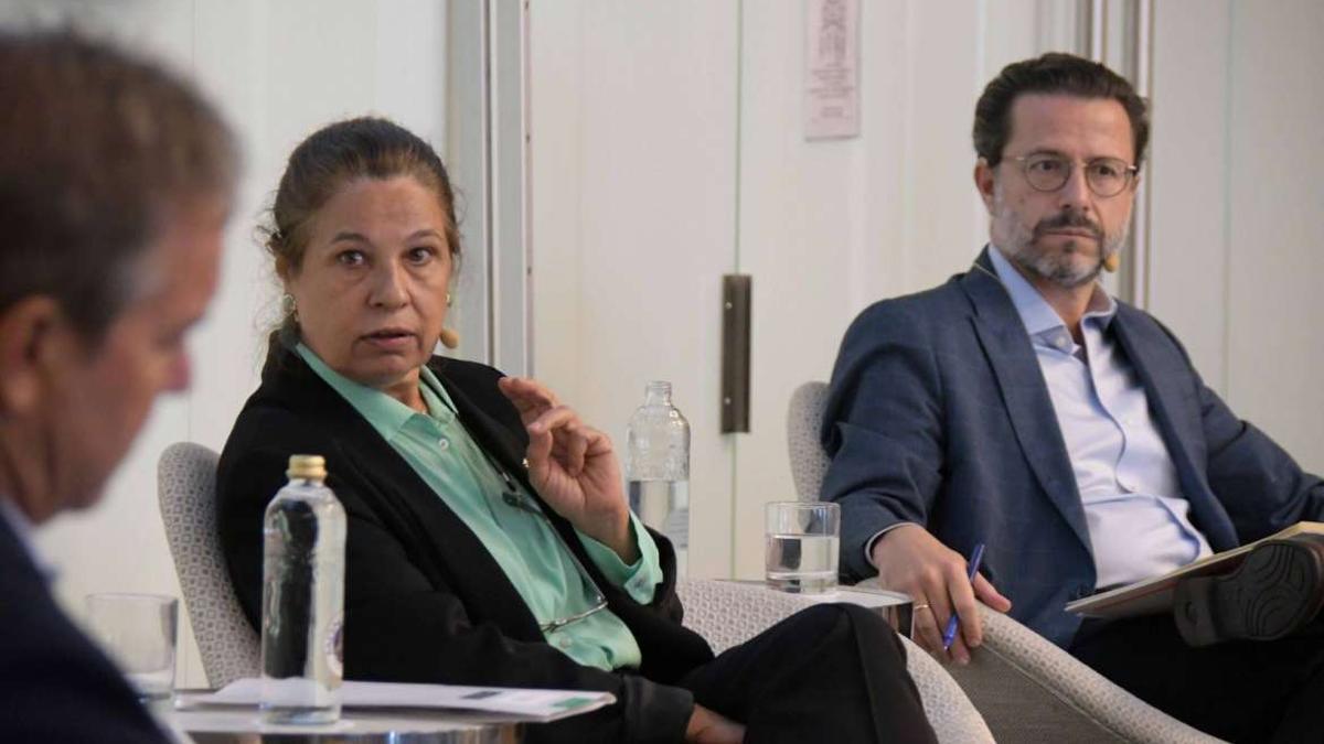 La vicepresidenta primera y consejera de Hacienda y Administración Pública, Pilar Blanco-Morales, durante las jornadas celebradas en Cádiz