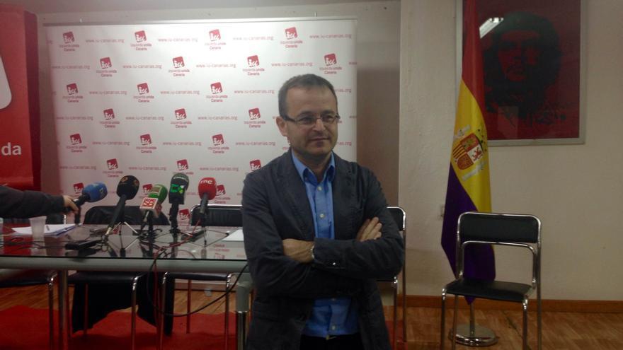 El candidato de IUC a la Presidencia del Gobierno de Canarias, Ramón Trujillo