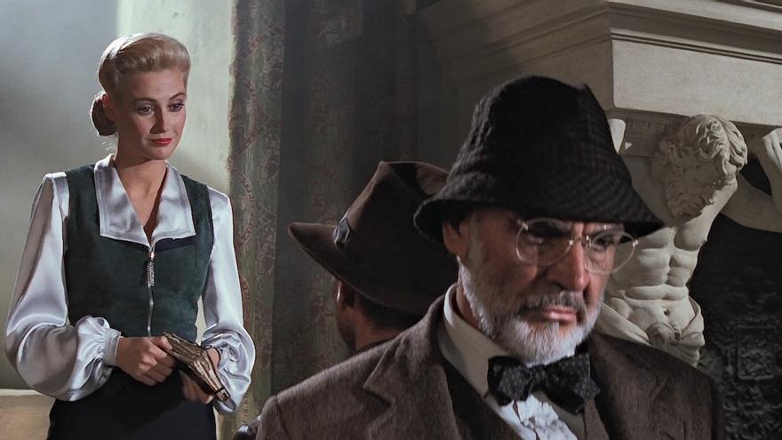 Elsa se despide de Indy y el Dr. Jones