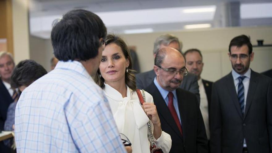 La reina Letizia conoce en Teruel la experiencia formativa de los alumnos de FP