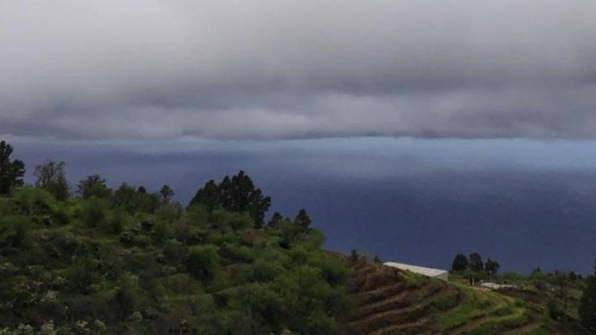 Nublado en La Palma.
