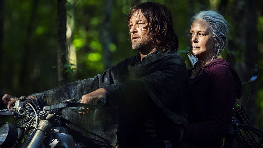 Norman Reedus y Melissa McBride en 'The Walking Dead'