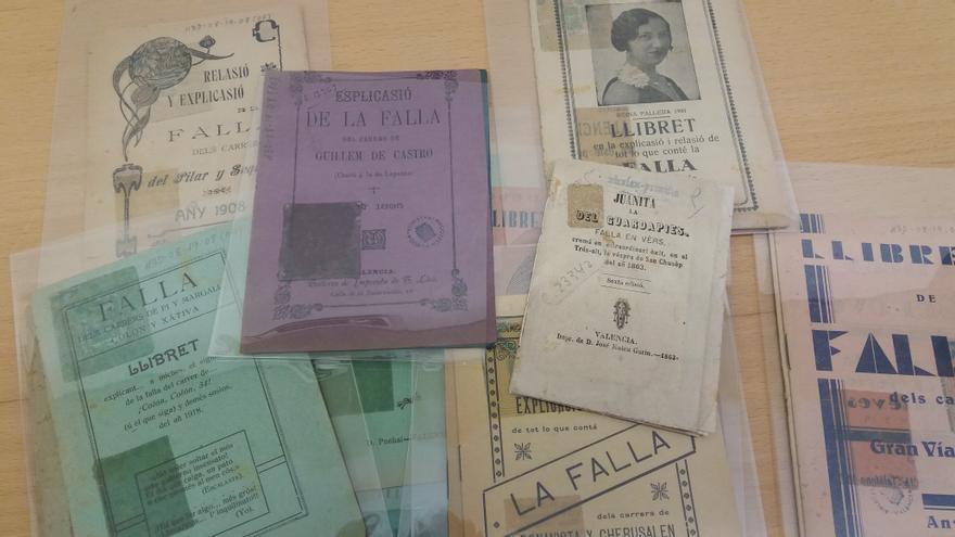 Llibrets de falles que conserva la Biblioteca Valenciana.