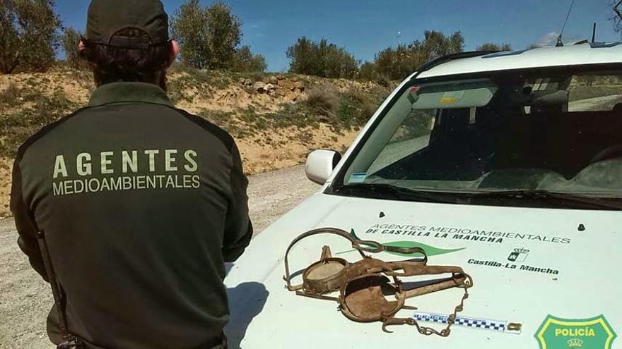 Cepos ilegales detectados por los agentes medioambientales en Castilla-La Mancha