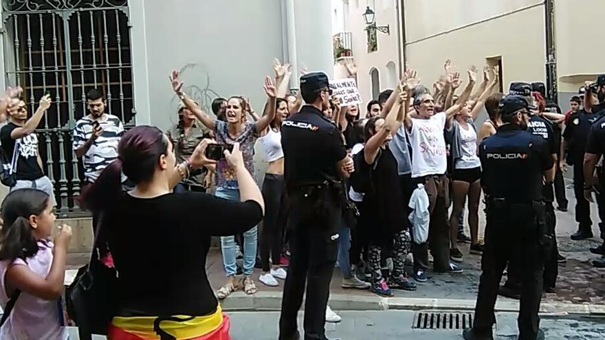 Los manifestantes rechazaron el maltrato animal