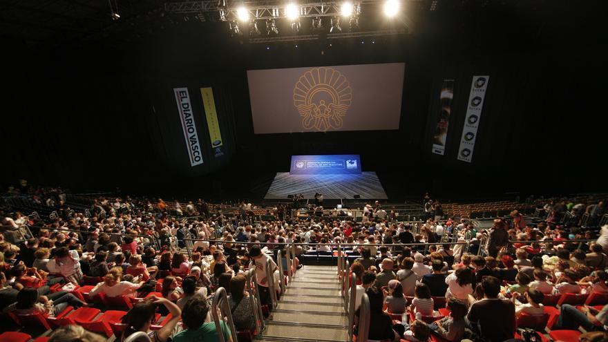 Una de las salas principales del Festival de San Sebastián abarrotada en la pasada edición