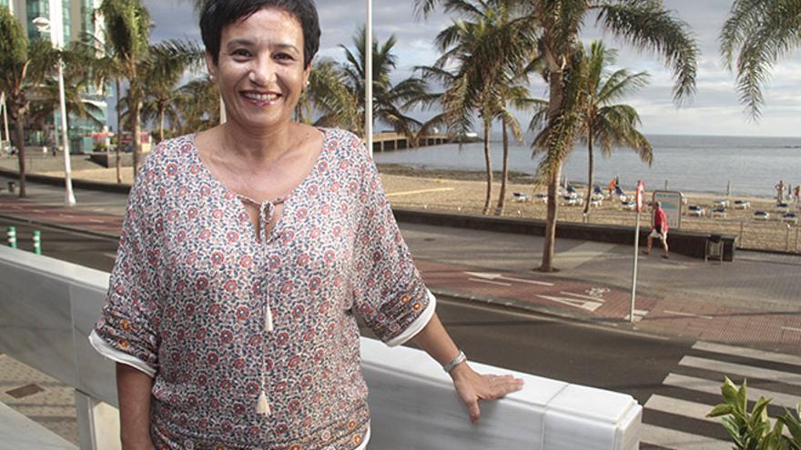 Olga Barrera, presidenta de la Federación de Asociaciones de Mujeres Arena y Laurisilva
