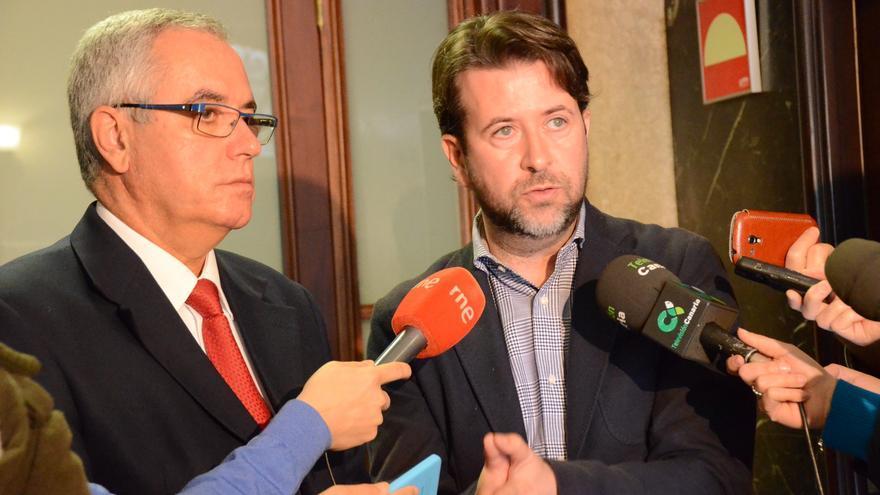 Óscar Izquierdo y Carlos Alonso, en una imagen de archivo