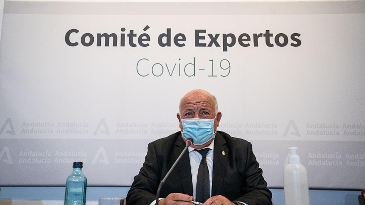 El consejero de Salud, Jesús Aguirre, este martes por la tarde