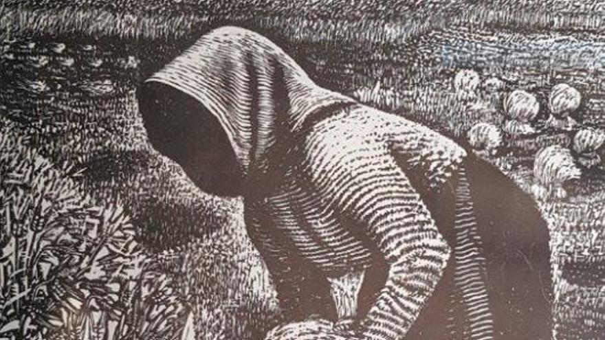 'Segadora', 1960. Xilografía/papel.