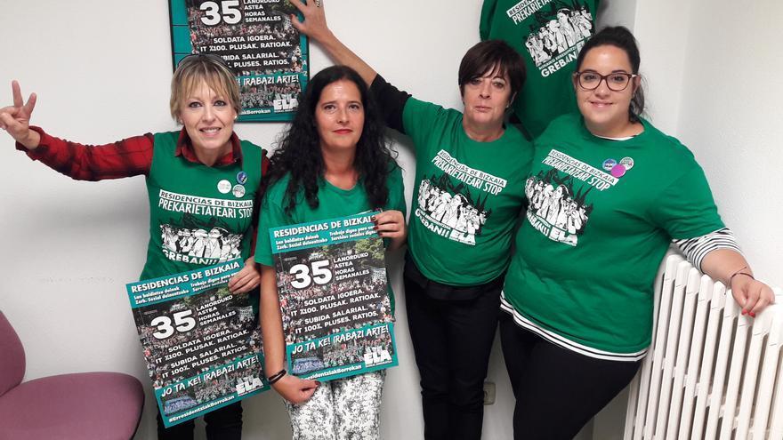 """Algunas de las trabajadoras en huelga, representadas por ELA. """"Nuestro espíritu de lucha es inquebrantable"""", aseguran."""