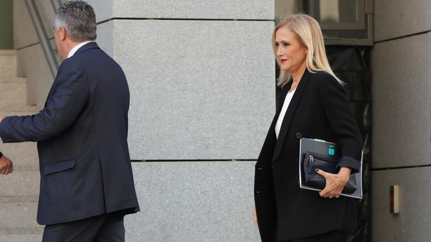 Cristina Cifuentes a su llegada a la Audiencia Nacional para declarar por el caso Púnica.